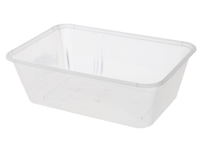 Plastic Rectangular Containers 650ml with Lids Qty 500