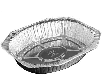 Foil Oval Roasted Container Qty 100