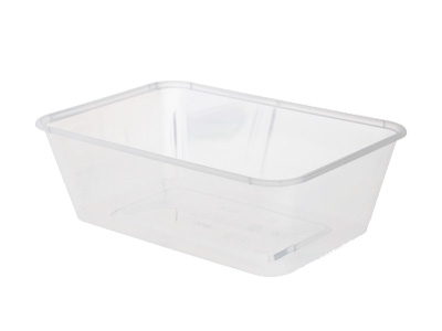 Plastic Rectangular Containers 750ml with Lids Qty 500