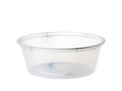Plastic Round Container C8 with Lids Qty 500